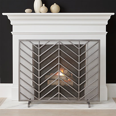 crate and barrel fireplace screen-0