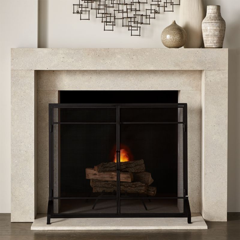 crate and barrel fireplace screen-1