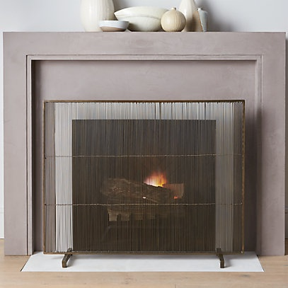 crate and barrel fireplace screen-4