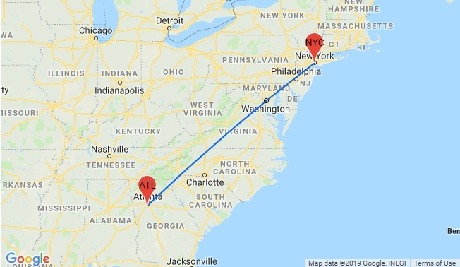 how long is a flight from atlanta to new york-0