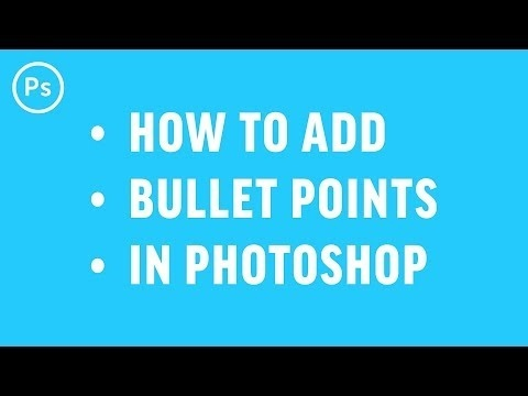how to add bullet points in photoshop-1