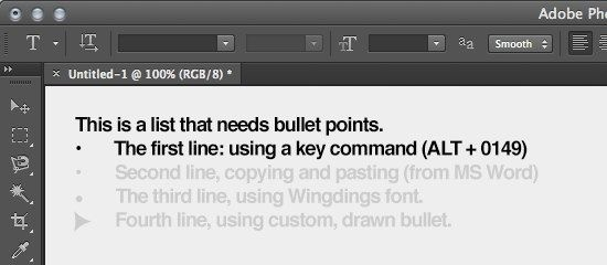 how to add bullet points in photoshop-3