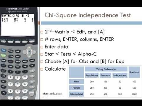 how to find test statistic on ti 84-1