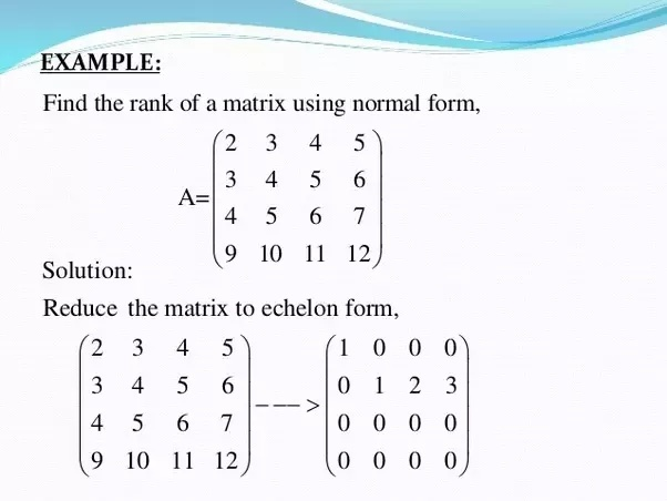 how to find the rank of a matrix-0