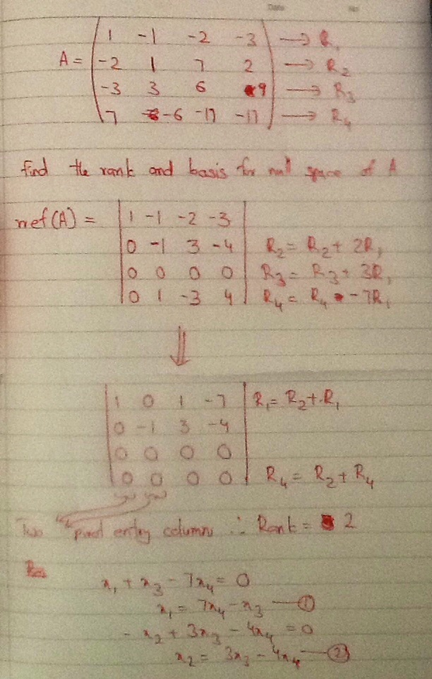 how to find the rank of a matrix-1