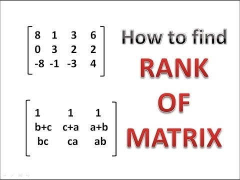 how to find the rank of a matrix-3