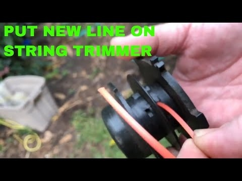 how to string a weed eater with two holes-2