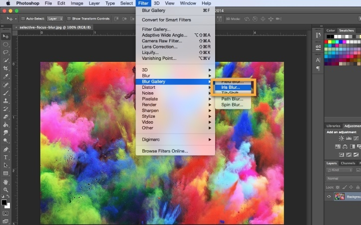how to use blur tool in photoshop-2