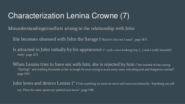 who is john why is he attracted to lenina-2