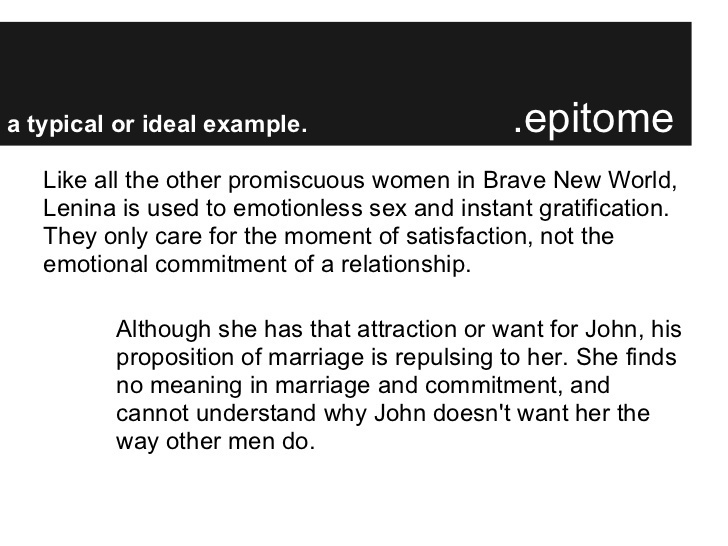 who is john why is he attracted to lenina-3